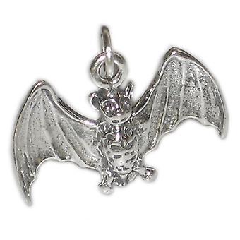 Bat Flying Sterling Silver Charm - Pendant .925 X 1 Bats Charms - 2772