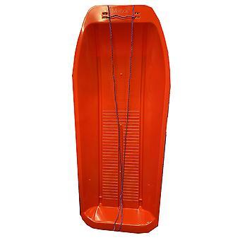 Robust rød 1 meter lang slæde sneslæde med reb