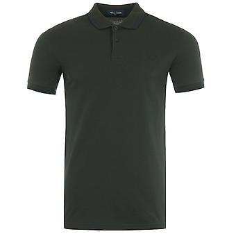 Fred Perry M3600 Twin Tipped Polo Shirt - Racing Green & Blue
