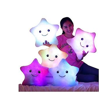 Plush Led Toy Gifts Star Pillow Glow Stuff Toys Lights Kids Birthday Christmas