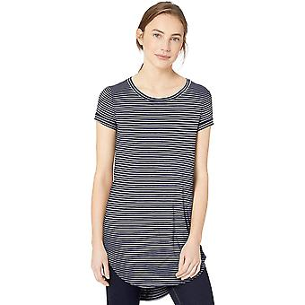 Marca - Daily Ritual Women's Jersey Short-Sleeve Open Crew Neck Tunic