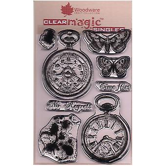 Woodware Clear Singles Vintage Relojes de bolsillo 4 en x 6 en sello