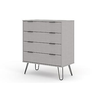Augustine Grey 4 Drawer Chest Of Drawers