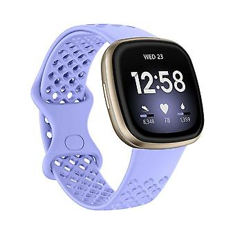 voor Fitbit Versa 3 / Sense Replacement Band Strap Silicone Bracelet Wristband[Small,Purple]