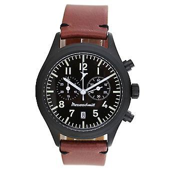 Aristo Men's Messerschmitt Watch Chronograph ME5021-44 Vintage Leather
