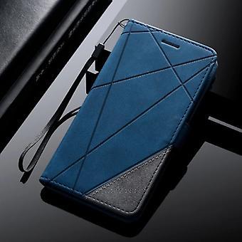 Material certificado® Samsung Galaxy S7 - Carteira de Couro Flip Case Capa Capa Carteira Azul