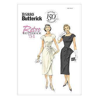 Butterick نمط الخياطة 5880 يخطئ خمر 51 صغير الجانب كشكشة اللباس 6-14 UC