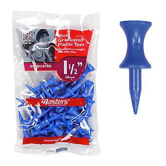 Masters Plastic Graduated Golf Tees 1 1/2'' bag 30 Blue