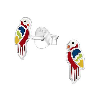 Parrot - 925 Sterling Silver Colourful Ear Studs - W23808x