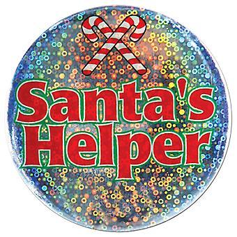Santa es Helper Button (Packung mit 12)