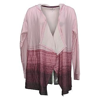 احتضان دودز المرأة & ق سترة Comfortwear أومبر هود التفاف الوردي A382459
