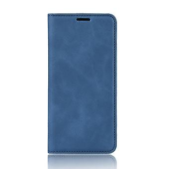 Magnetic Soft Folio Leather Case for Oppo A53 2020/A32 2020 - blue