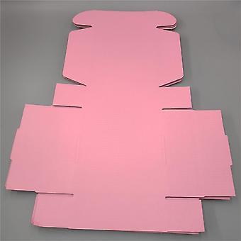 Vaaleanpunainen mailer box aaltopahvi paperilaatikko neliö kuljetuslaatikot