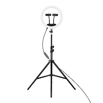 12-In rgb led ring light dimmable selfie circle lamp fill-in 10 brightness levels for makeup photography