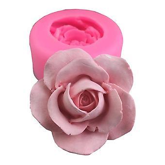 DIY 3D Rose Flower Silicone Savon Moule