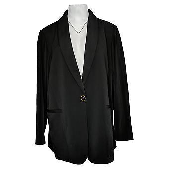 سوزان غريفر المرأة سترة زائد 2X طباعة مضلع Knit Cardigan الأخضر A367775