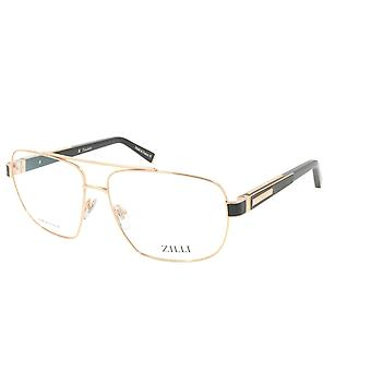 ZILLI glasögon Ram Titanacetat Läder Frankrike Tillverkad ZI 60046 C01