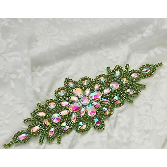 Rhinestone And Pearl Beaded Appliques For Wedding Belt/shoes/jacket/jewelry
