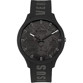 Versace VS1O0521 メンズドムス ブラック ラバー ストラップ 腕時計