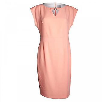 Paola Collection Cap Sleeve Shift Dress Pearl Detail