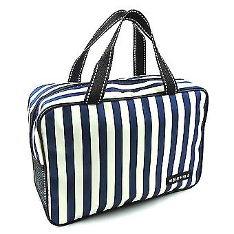 Stribe Toiletry Taske Vandtæt bærbar taske udendørs stor kapacitet Makeup Bag Kosmetisk Taske Beauty Sag