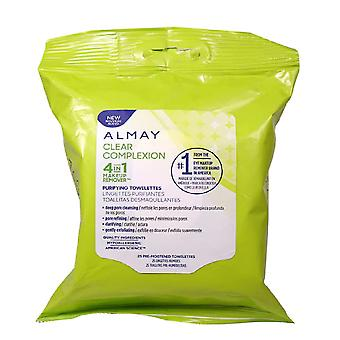 Almay Clear Complexion Hypoallergenic 4-in-1 Makeup Remover Purifying Towelettes { 3 Pack }
