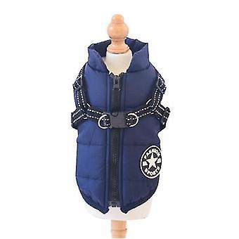 M blue dog cotton-padded jacketone-piece cotton waistcoat x3762