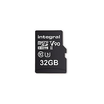 Integral 32GB Micro SD Card UHS II MicroSDHC Cl10 UHS 2 U3 V90 R-280 W-240 Mb/S Ultimapro