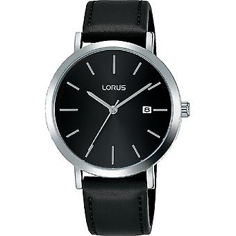 Lorus RH935JX9 Mens Dress Watch with Sunray Black Dial & Silver Baton Hour Markers