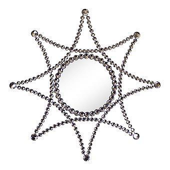 Hopea metallinen jalokivinen tähti aksentti peili