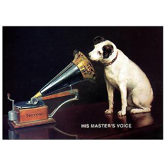 Vintage Reklame Plakat Nipper - Hans Master'S Voice - Canvas Print, Wall Art Decor
