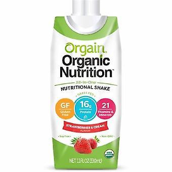 Orgain Oral Supplement Orgain Organic Nutritional Shake Strawberries and Cream Flavor 11 oz. Container Car, 1 Each