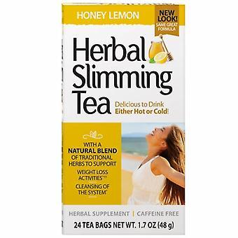 القرن 21 العشبية التخسيس الشاي، العسل الليمون 24 أكياس