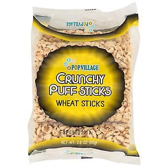Popvillage Puff Sticks Wheat, Case of 24 X 2.8 Oz