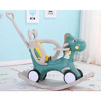 2 In 1 Kids Horse Stroller  Wooden Rocker Ride - Toy