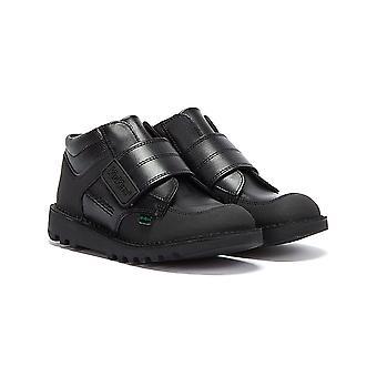 Kickers Mid Scuff Junior Black Boots