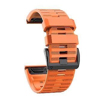 Siliconen vervangende horloge band voor Garmin Fenix6 Fenix5 Orange 22mm