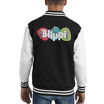 Blippi Animated Logo Kid's Varsity Jacket