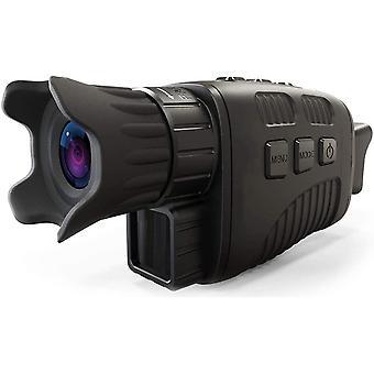 """نظارات الرؤية الليلية الأساسية / المناظير مع / 1.5 """" شاشة LCD ، الأشعة تحت الحمراء (IR) الكاميرا الرقمية ، مناظير مع صور مزدوجة + تسجيل فيديو للصيد في الهواء الطلق ، والتخييم ، ومشاهدة الطيور والمراقبة ، (أسود)"""