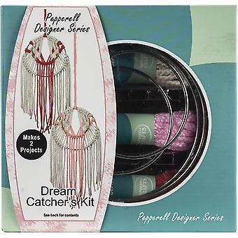 Pepperell Designer Macrame Modern Dream Catchers Kit - Coral & Pink