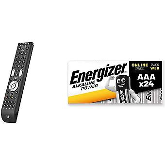 One For All Essence 4 Universal Remote Control - Black -URC7140 & Energizer AAA Batteries,