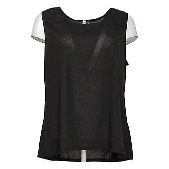 Rhonda Shear Women's Plus Sleeveless Tank Top Black 633734