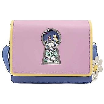 Loungefly Crossbody Bag Alice In Wonderland Key Hole new Official Disney Blue