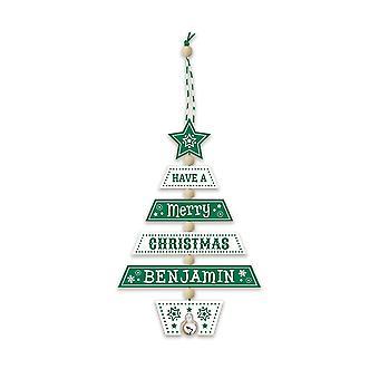 التاريخ وبشرة عيد الميلاد شجرة الديكور - بنيامين 269800154 اليد الخشبية وضعت