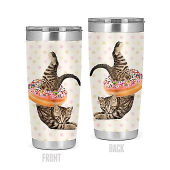 Funny Cat With A Donut Tumbler -SPIdeals Designs