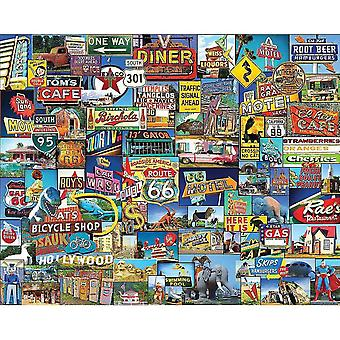 Jigsaw puzzles white mountain puzzles roadside america - 1000 piece jigsaw puzzle