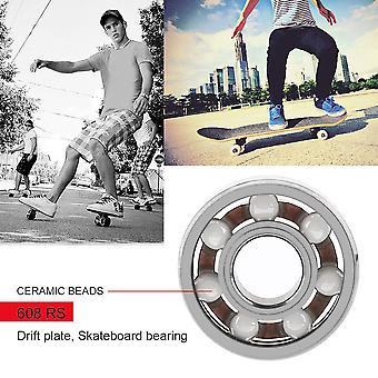 608rs Good Roller Skates Ceramic Ball Inline Skate Bearings Drift Plate