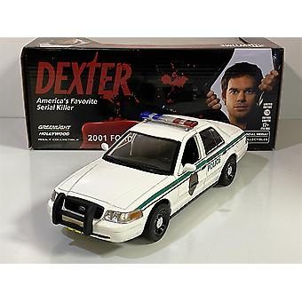Dexter 2001 Ford Crown Victoria Police Car 1:24 Greenlight 84133