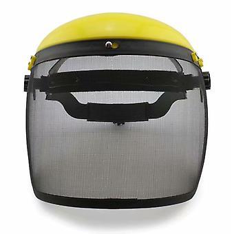 Ochranná maska pro sečení a sečení trávy, ochranná maska proti nárazu, noste ocelovou síťovinu