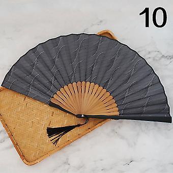 Silk Cloth Chinese Style Folding Portable Female Fan